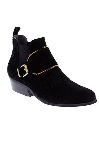 kanna boots femme de couleur noir