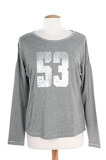 T-shirt manches longues gris K'TENDANCES pour femme