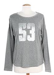T-shirt manches longues gris K'TENDANCES pour femme seconde vue