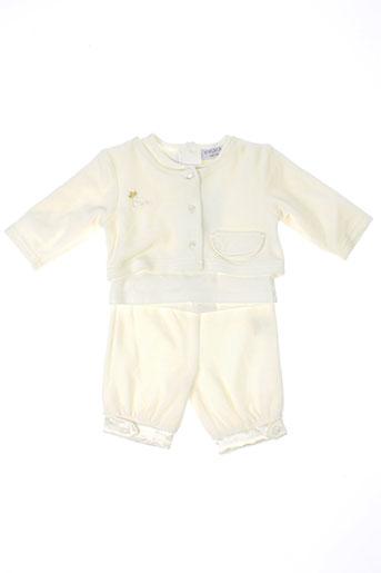 wiplala t et shirt et pantalon fille de couleur beige