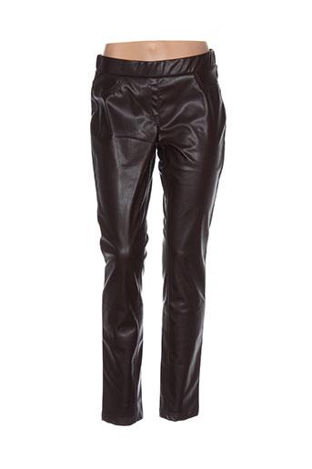 rabe pantalons femme de couleur marron