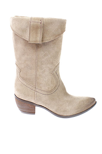 roberto et durville bottes femme de couleur beige