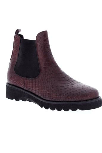 la et fee et maraboutee boots femme de couleur rouge