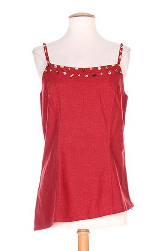 terramoda chemises femme de couleur rouge