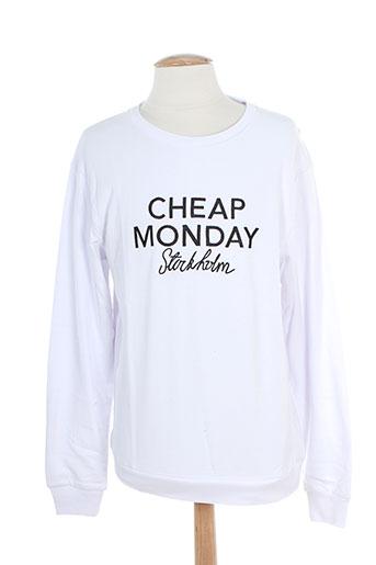cheap et monday sweats homme de couleur blanc