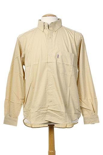 arthur chemises homme de couleur beige