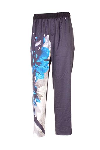 mila cento pantalons femme de couleur noir