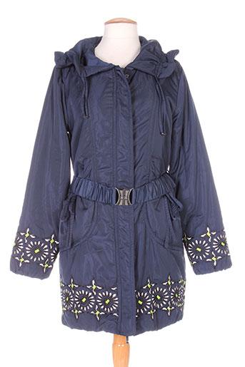 niza manteaux femme de couleur bleu