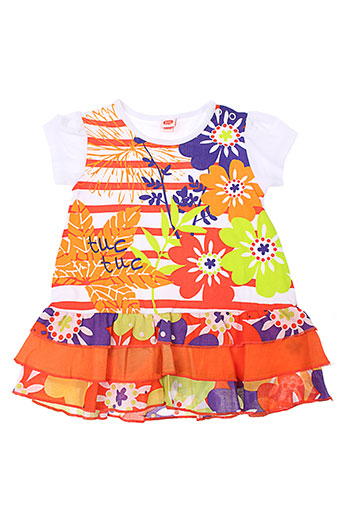 tuc et tuc robes et mi et longues fille de couleur orange