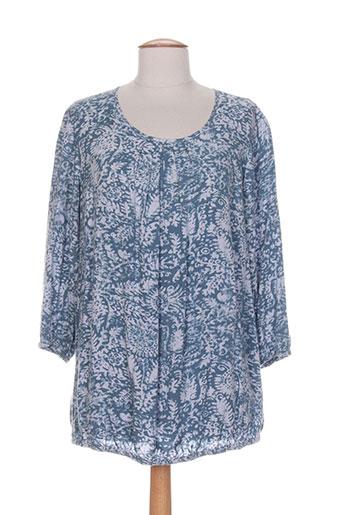 ciso chemises femme de couleur bleu