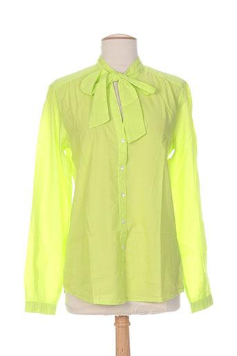 bensimon chemises femme de couleur vert
