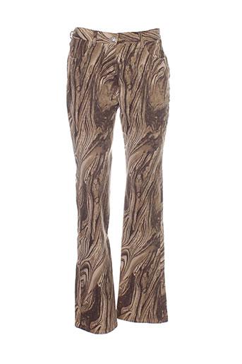 lucchini pantalons femme de couleur marron