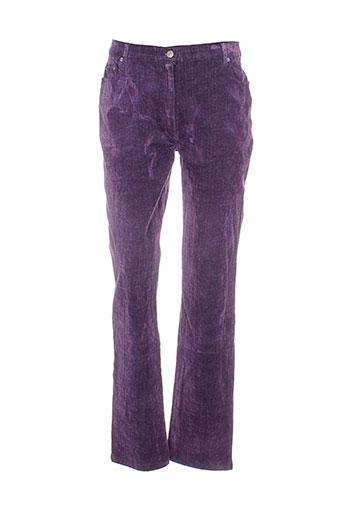 lucchini pantalons femme de couleur violet