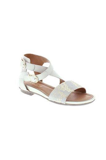 karston sandales et nu et pieds femme de couleur blanc