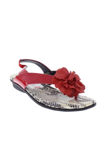 the et flexx sandales et nu et pieds femme de couleur rouge