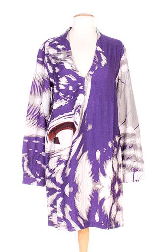 Tunique manches longues violet CHRISTOPHE SAUVAT pour femme