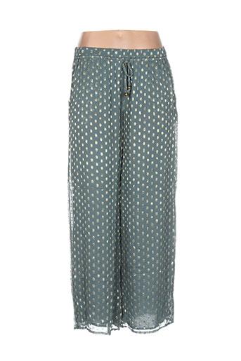 christophe et sauvat pantalons et decontractes femme de couleur vert