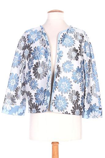 Veste casual bleu ANGY SIX pour femme