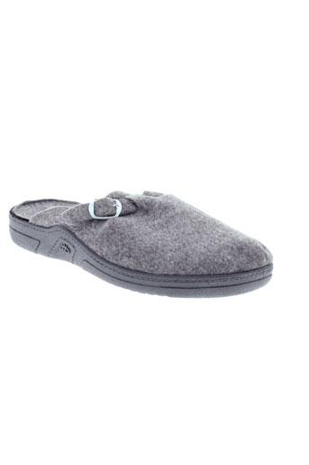 arthur pantoufle homme de couleur gris