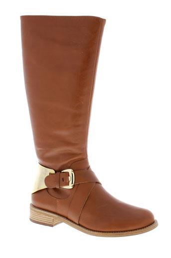 jorge et bischoff bottes femme de couleur marron