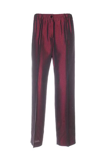 claude bauer pantalons femme de couleur violet