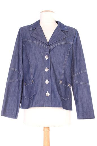 france rivoire vestes femme de couleur bleu