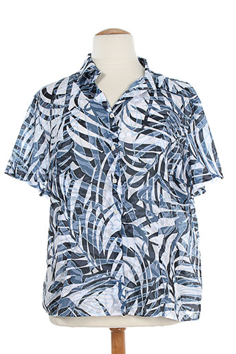laura de l'isle chemises femme de couleur bleu