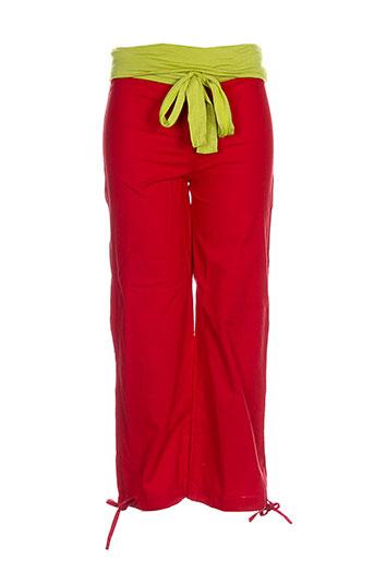 kaliyog pantalons fille de couleur rouge