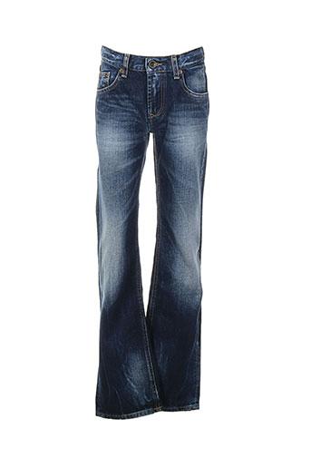 teddy smith jeans fille de couleur bleu