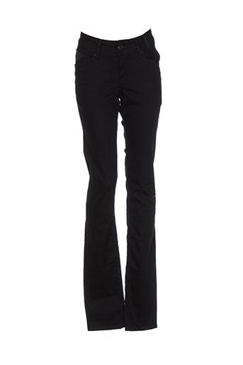 teddy smith pantalons fille de couleur noir