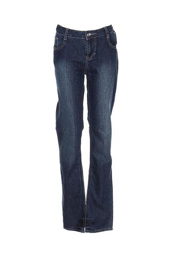 ddp jeans fille de couleur bleu