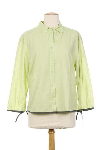 health chemises femme de couleur vert