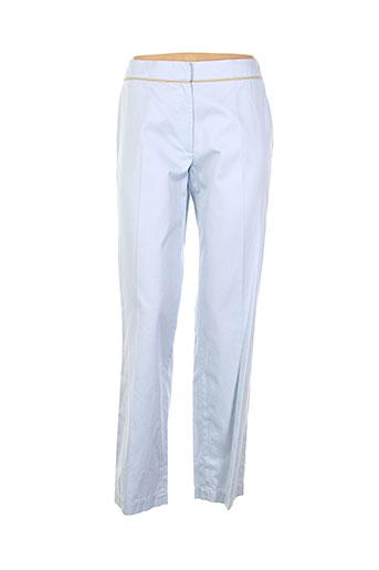 health pantalons femme de couleur bleu