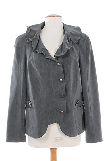 o.k.s vestes femme de couleur gris