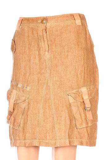 elisa cavaletti jupes femme de couleur orange