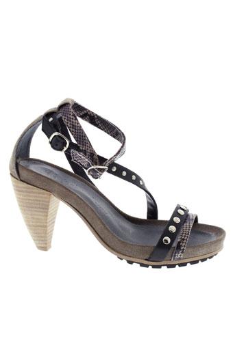 cop copine chaussures femme de couleur gris