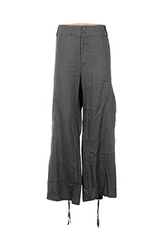 rimini pantalons femme de couleur gris