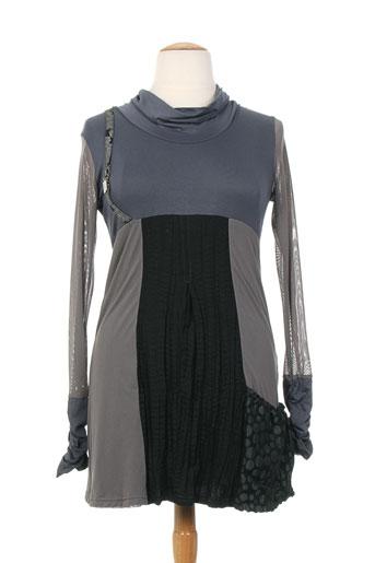 mankoë robes femme de couleur gris