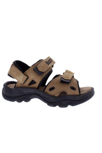 buggy sandales et nu et pieds homme de couleur marron