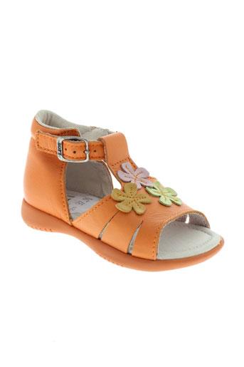bopy chaussures fille de couleur orange