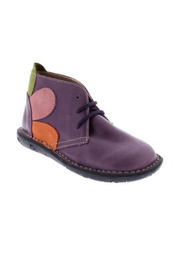 bopy bottillons fille de couleur violet