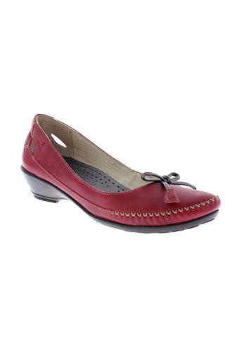 fluchos escarpins femme de couleur rouge
