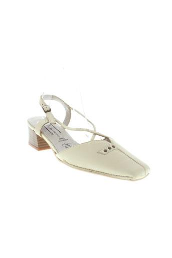 perle de charme chaussures femme de couleur beige