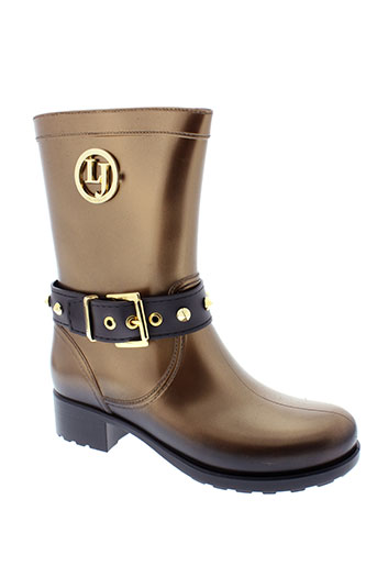 lemon et jelly boots femme de couleur marron
