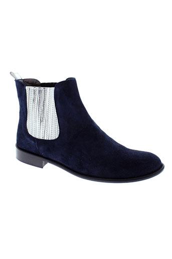 aliwell boots femme de couleur bleu