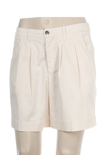 rivieres de lune shorts / bermudas femme de couleur beige