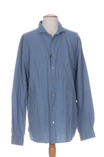 dstrezzed chemises homme de couleur bleu