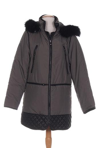 karen ritzi manteaux femme de couleur gris