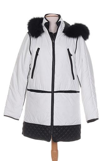 karen ritzi manteaux femme de couleur blanc