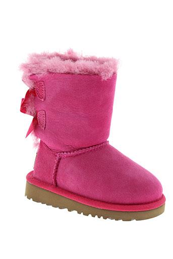 ugg boots fille de couleur rose
